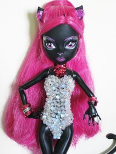 Monster High Catty Noir 13 Wishes Monster High School, Monster High Art, Monster High Birthday, Monster High Custom, Monster High Dolls, Catty Noir, Ball Jointed Dolls, Art Dolls, Kids Fashion