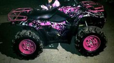 Muddy Girl Camouflage, Pink Camo, Pink Camoulfage-want one of these quads :) Camo Truck, Big Girl Toys, Toys For Girls, Muddy Girl Camo, Michaela, Hunting Girls, Four Wheelers, Barbie, My Ride