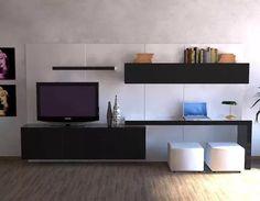 mdf laqueado rack lcd tv led modular le charp s. Modern Bedroom Design, Home Room Design, Home Office Design, Tv Wall Design, Tv Unit Design, Tv Unit Furniture, Furniture Design, Tv Unit Bedroom, Apartment Desk