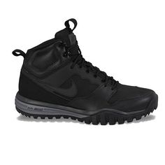 Featuring a dual-density midsole, these men's Nike Dual Fusion Hills hiking boots offer strategically placed lightweight supports over a supple upper, backed up by a rugged outsole for traction on a variety of surfaces. Mens Rugged Boots, Mens Lace Up Boots, Mens Hiking Boots, Mens Shoes Boots, Men Hiking, Hiking Pants, Men's Shoes, Best Hiking Shoes, Nike Boots