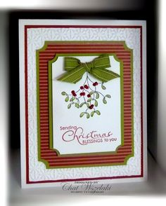 Stampin' UP Handmade Christmas Blessings Card by nitestamper