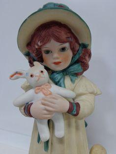 Vtg Jan Hagara Porcelain Girl LESLEY Leslie Doll Ltd Ed 832 FIGURINE Cake Topper