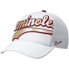 Nike Florida State Seminoles (FSU) Women's Retro Trucker Hat - White