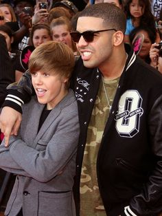 TORONTO, ON - JUNE 20:  Singer Justin Bieber and Rapper Drake arrive at the 21st Annual MuchMusic Video Awards on June 20, 2010 in Toronto, Canada.  (Photo by Isaiah Trickey/FilmMagic) *** Local Caption *** Justin Bieber;Drake
