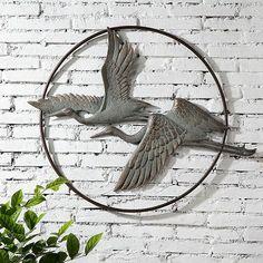 Herons Birds In Flight Aluminum Garden Wall Art Hanging x Outdoor Metal Wall Art, Metal Wall Decor, Hanging Wall Art, Outdoor Walls, Indoor Outdoor, Wall Hangings, Outdoor Decor, Outside Wall Decor, Iron Wall Art