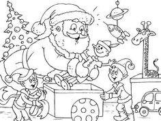 Christmas Coloring Pages Kids. You may make coloring books of the alphabet, character, figures, the entire world and places, animals or characters. Santa Coloring Pages, Printable Christmas Coloring Pages, Christmas Coloring Sheets, Printable Adult Coloring Pages, Cool Coloring Pages, Christmas Printables, Coloring Books, Christmas Paper Crafts, Christmas Toys