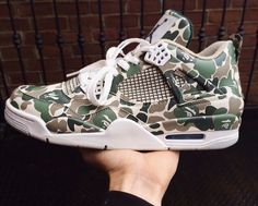 Air Jordan 4 Bape Custom by AMMOSKUNK