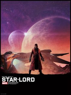 Guardians of the Galaxy illustrated poster Star Lord Guardians of the Galaxy B Roll Footage & Illustrated Posters