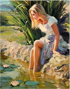 'The Lily Pond' Vladimir Volegov