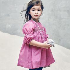 【SALE20%OFF】 Nellystella [ネリーステラ] Clover Dresss ワンピース(ローズバイオレット)1-3Y - インポートベビー・子供服 出産祝い vivid LIFE