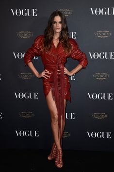 Izabel Goulart attends the Vogue 95th Anniversary Party on October 3, 2015 in Paris, France.