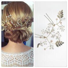 Bridal headpiece by Wedding Art