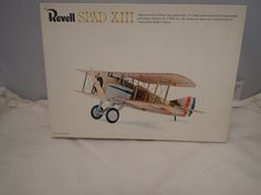 1917 FRANK LUKE'S SPAD XIII REVELL 1:28 SCALE SKILL 2 VINTAGE PLASTIC MODEL KIT #Revell Plastic Model Kits, Plastic Models, Revell Model Kits, Scale, Ebay, Vintage, Weighing Scale, Vintage Comics, Libra