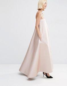 ASOS White | ASOS WHITE Extreme Bonded Bandeau Maxi Dress