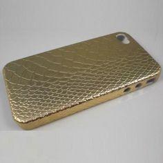 Gold snake skin iPhone 4 case.