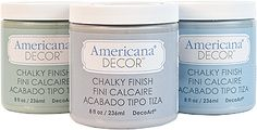 DecoArt Americana® Home Decor Chalky Finish Colors, I am really excited about this new Chalk Paint. More colors and way cheaper than Annie Sloans