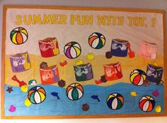 "preschool summer bulletin board ideas | Summer Fun"" Beach Theme Bulletin Board"