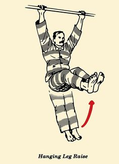 illustration, hanging leg, prisoner workout, convict conditioning, bodyweight exercises