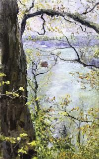 Spring Overlooking the Kalamazoo River by James Brandess-My favorite artist!