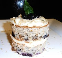 My Blueberry Cake with Cream Cheese Frosting #berryblue