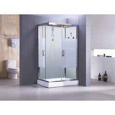 Cabine de douche Optima2 blanche hydromassante mitigeur rectangulaire 120x80cm