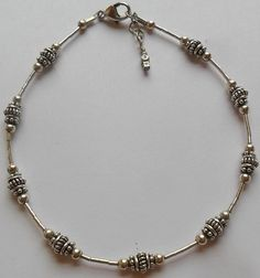 Sterling Silver Tribal Bracelet 9 Inches 9 Grams by onetime, $11.25