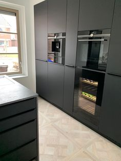 French Door Refrigerator, Kitchen Interior, French Doors, New Homes, Kitchen Appliances, Flooring, House, Houses, Kitchens
