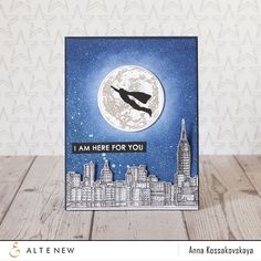 Galaxies and space themes are gaining popularity in the card world, and we cannot wait to see what you make with this unique stamp set! The awesome moon image can be stamped in one, two, or three laye