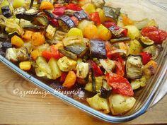 Az otthon ízei: Mediterrán zöldségtál Quiche Muffins, Penne, Vegetable Recipes, Fruit Salad, Pasta Salad, Side Dishes, Grilling, Paleo, Healthy Recipes