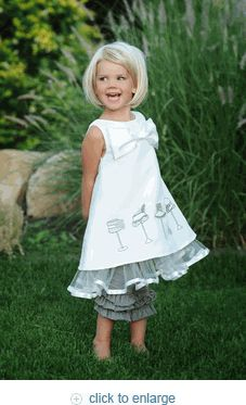 Spring 2012 Henrietta Bow Dress...love the little hats on the front #kids #dress #sewing