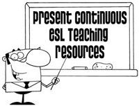 Present Continuous ESL EFL Teaching Resources - These insightful grammar resources help to teach your students about the present continuous tense. Students learn to create and recognize positive and negative present continuous statements as well as yes/no questions and short answers. There are also a variety of entertaining miming and memory games to help your students practice the structure.