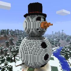 Minecraft | Build a Giant Snowman in Minecraft