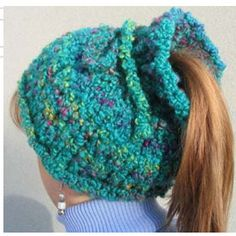 Knitting Pattern Ponytail Hat : 1000+ images about 2016 Knitting on Pinterest Pattern library, Knitting pat...