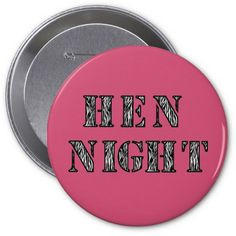 A cool hen party badge by#Wedding_Creations . You can customise this design and change the name of the bride to be or add each hen's name and create a unique and custom badge for all the hens. Make your #Hen_night go with a bang. There are also matching t-shirts, bags and hats too