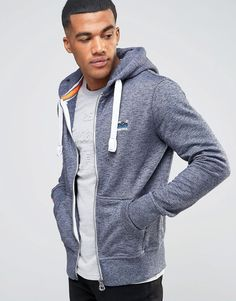 Image 1 of Superdry Orange Label Zip Up Hoodie