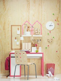 Kids study Zone: Micke + washi tape
