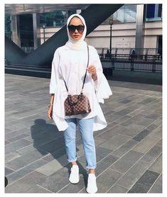 Hijab Fashion Summer, Modest Fashion Hijab, Modern Hijab Fashion, Modesty Fashion, Hijab Fashion Inspiration, Muslim Fashion, Mode Inspiration, Hijab Casual, Casual Outfits