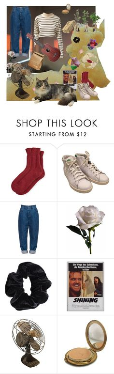 """worry's a bully"" by mr-burns ❤ liked on Polyvore featuring Falke, adidas, Miu Miu, Abigail Ahern, American Apparel, Poste and Coty"