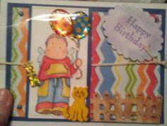 Birthday card for boy. Handmade 3d.  Bright colors