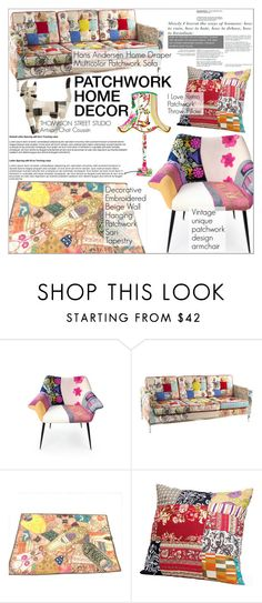 """""""Patchwork Home Decor"""" by martso ❤ liked on Polyvore featuring interior, interiors, interior design, home, home decor, interior decorating, patchwork and homeset"""
