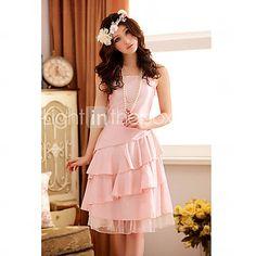 Women's Layered Ruffle Hem Slim Dress(More Colors)