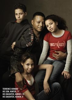 Actor Terrence Howard and his three children Hunter, Aubrey and Heaven for The Gap, 2007 ~ Photo by Annie Leibovitz My Black Is Beautiful, Beautiful Family, Black Love, Beautiful Things, Hello Beautiful, Black Man, Beautiful Children, Beautiful People, Family Portraits