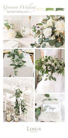 Winter Wedding Flowers, Floral Wedding, Wedding Greenery, Botanical Wedding Theme, Ivory Wedding, White Wedding Bouquets, Grey Tuxedo Wedding, Elegant Winter Wedding, Bridesmaid Bouquets