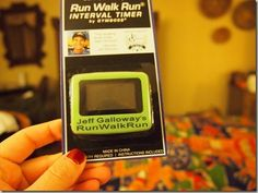 Run Walk Run Interval Timer that vibrates, by Jeff Galloway  - need one of these so I stop looking at my watch all the time