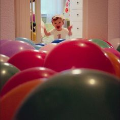 How fun...have your kiddo wake up to a sea of balloons on the morning of their birthday :)