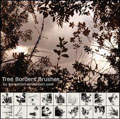 free Photoshop brushes: trees
