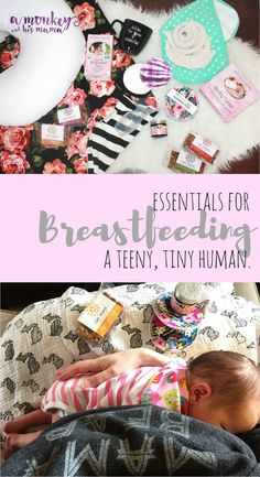 my essentials for breastfeeding a newborn.  Items to make those first couple weeks easier.  // a monkey and his mama