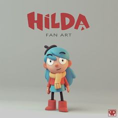 fell in love with Netflix's Hilda a few weeks a go, so I just had to make some fan art. Its just a quick sculpt, made in Zbrush, rendered in Modo. Zbrush Character, 3d Model Character, Game Character Design, Character Design Animation, Character Modeling, Character Design Inspiration, Character Art, Simple Character, Character Concept