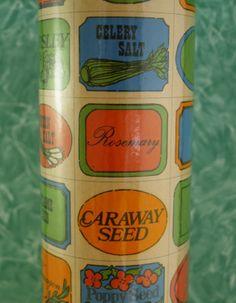 Vintage 70s Spice Jar Labels by elmstreetvintage on Etsy
