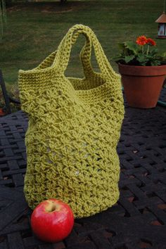 Market basket crochet - Vicki Howell yarn; Linda Permann pattern.